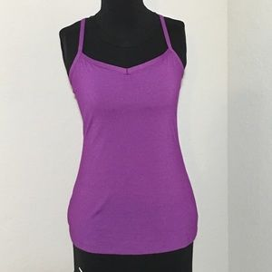 Lucy Yoga Siren Racerback Tank Top Purple Sz S